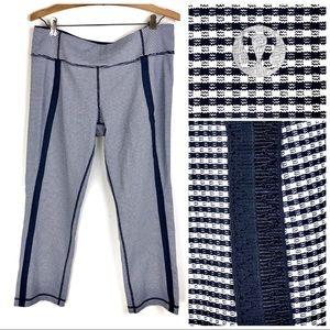 Lululemon checkered Capri leggings